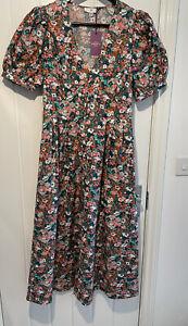 LADIES LA REDOUTE LIBERTY MATERIAL FLORAL PRINT MAXI DRESS UK SIZE 12 BNWT