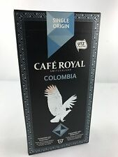10 Cafe Royal Kapseln für Nespresso Single Origin Colombia 16 Sorten 6,38€/100gr