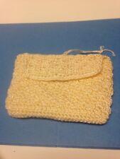 The Sak Wristlet Hand Bag Clutch Crocheted Peach Evening Bag