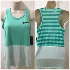 841bf310144606 Nike Dri-Fit Girls Light Green Sz L Training Colorblock Tank Top NWT  890291