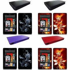 Genuine Leather Stand Case Cover for Amazon Kindle Fire Tablet + Skin Accessory