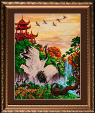 "Cross Stitch Kit Bead Embroidery kit GOLDEN HANDS UM-002 - ""Shaanxi Province"""