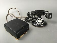 Antique Western Electric 202 Model D1 Rotary Telephone w/ Subset Ringer Box