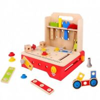 Tooky Toys Childrens Wooden Foldable Workbench Toy Playset Age 3+