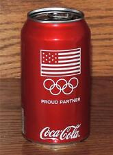 NM 2014 USA FLAG LE COCA-COLA OLYMPIC RINGS PROUD PARTNER 12oz 355ml FULL CAN