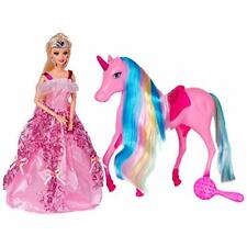 Magical Lights Unicorn & Princess Doll Playset for Girls Kids High Quality NEW
