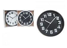 Orologi da parete nera in plastica 12 ore