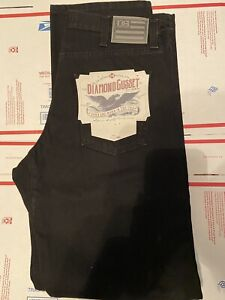 Diamond Gusset Mens Jeans 33 X 32 Black MADE IN USA