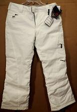 NWT SPYDER STRYKE XT WHITE womens ski snowboard pants 10 New
