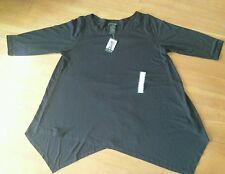 NEW Womens GRACE ELEMENTS Black 3/4 Sleeve Pullover Sweater Top Size 2XL XXL
