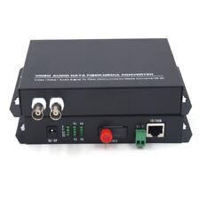 Premium 2CH Video 10/100Mbps Ethernet over Fiber optic Converters FC for Camera