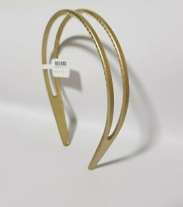 New Claire's Women's Hair Accessorie Plastic HeadBand Gold Simple Style