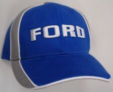 Hat Cap Licensed Ford Text Blue Grey Accent White Piping CF G1833