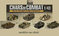 Chars de combat de la seconde guerre mondiale - 1/43ème (au choix)