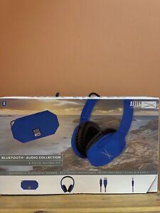 HEADPHONES Altec Lansing Bluetooth Audio Sound Kit - Blue w/Mini H20 speaker