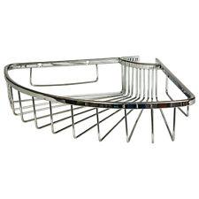 Single Corner Soap Shower Basket Bathroom Chrome Wire Work Accessories F09