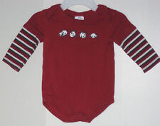 GYMBOREE Size 3-6 Months Boys Red Long Sleeves Bodysuit Romper