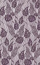 Purple Rigid Lace Fabric 150cm Wide