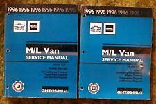 1996 Chevy Astro Van GMC Safari Shop Manuals 96 set M/L