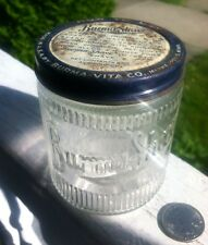 Burma-Shave 1/2 Lb.Jar With Original Adv. Lid