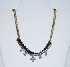 NWT Fossil Brand Vintage Bronze Tone Glam Strand Bling Bling Necklace JA4890998