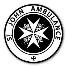 St John's Ambulance METAL Composite Sign Seen on Vintage POLICE PHONE BOXS