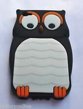 OWL Black Silicone Back Case for iPod Touch 4 / iPod 4th Gen with FREE POSTAGE