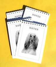 Afghan Hound Dog Pack of 4, A6 Notepads Gift Set