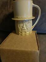 Vintage Mr Peanut Planters Peanuts Tan Cup Mug Plastic Rare BNIB
