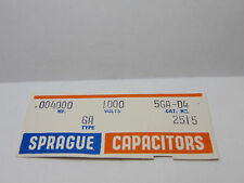 VINTAGE ELECTRONIC CAPACITOR NOS LOT OF 3 SPRAGUE CERAMIC DISC .004 MFD 5GA-04