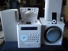Mini Audio System for iPod~ iLuv i7500WHT~2.1-Channel w/Remote Control/Subwoofer