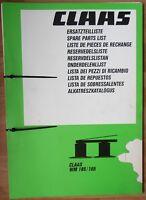 Claas WM 185 / 165 Ersatzteilliste