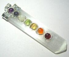 Selenite Chakra Pendant Crystal Healing Fashion Jewelry Gift Handcraft Accessory