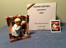 """NORMAN ROCKWELL 2004 Christmas Figurine Ornament """"Is He Coming"""""""