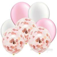 Beautiful Pink Rose Confetti Balloon Bouquet-Baby Shower Party-Girls Decorations
