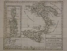 XVIII century :plan carte de la grande Grèce et de la Sicile Corse et Sardaigne