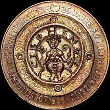 PAUL SCHACK: Kupfer-Medaille 1988. 25 JAHRE FACHGRUPPE NUMISMATIK ZEITZ - FGN.