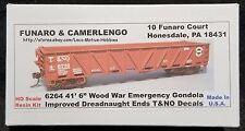 """Funaro F&C 6264  T&NO 41'-6"""" Wood War Emergency Gondola  SP  TEXAS & NEW ORLEANS"""