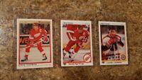 (3) Steve Yzerman 1990-91 OPC Premier Upper Deck Campbell Red Wings HOF card lot