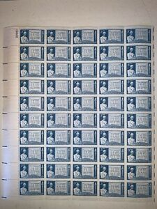 US Stamps SC# 978 Gettysburg Address 3c sheet of 50 MNH 1948