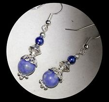 Sodalite Gemstone Dangle Earrings...