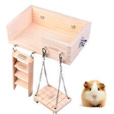 Wooden Cage Toys Hanging Ladder Swing Bridge Platform for Bird Mouse Rat Hamster