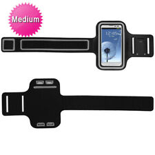 Black/Gray Medium Vertical Pouch Sports Arm Band Phone Holder Mobile Device Cell