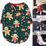 Vêtement T-shirt de Noël pour Petit Chien Chat Chiot Coton Chauds Doux Manteau