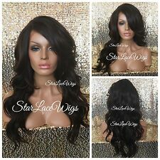 Synthetic Lace Front Wigs For Women Layers Color #4 Side Part Heat Safe Ok