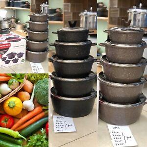 Non Stick Cookware 10 PCS Pieces Cooking Saucepans 5 Pots Set With 5 Glass Lids