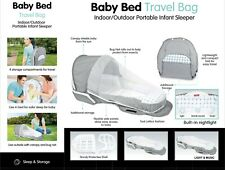 Newborn Baby Musical Travel Cot Bed Portable Bag Baby Musical Lights Playmats UK
