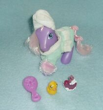 "Rare My Little Pony ""Bubble Bath Time with Sweetsong"" + ALL ACCESSORIES MLP EUC!"