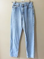 VTG Calvin Klein sz 10 High Waisted Mom Jeans Made in USA Light Wash