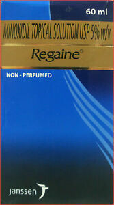 REGAINE 5% MINOXIDIL TOPICAL MEN'S  STRENGTH  HAIR LOSS 60 ML